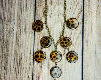 Leopard Jcrew Inspired Bubble Necklace
