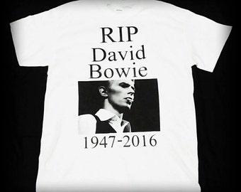 David Bowie t-shirt, David Bowie, David Bowie tribute shirt, S, M, L, XL