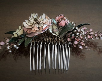 Pink Bouquet Hair Comb
