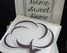 Home Sweet Home Glass Coaster Set