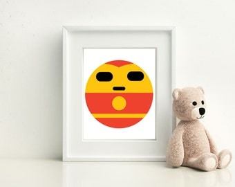 Ironman Little Boy- Nursery and Children's Room art print