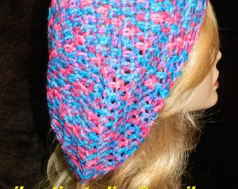 """Slouchy Hat, Bohemian (Hipster),  Color - """"BONBON"""", Breathable Loose Stitch for wear in all seasons, Slouch Beanie, Slouch Hat, Hat"""