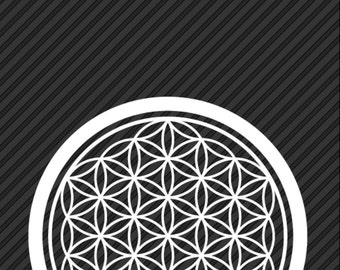 2 'Flower Of Life' Vinyl Decals, Sacred Geometry, Free Shipping