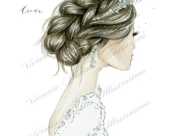 Always Wear Your Invisible Crown (Fashion Illustration Print)