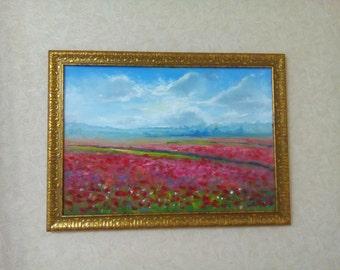 маковое поле poppy field