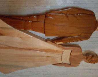Wood Wall Hanging - Wedding Couple - Intarsia
