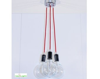 Artisan suspension colored cables 3 Led lights