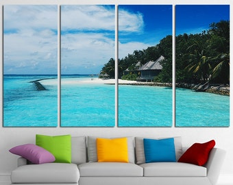 Large Canvas Beach Wall Art Canvas Tropical Print Beach Photo Beach Wall Art Beach Canvas Art Ocean Canvas Beach Wall Decor Beach Poster