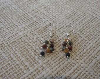 Jasper sterling silver earrings