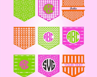 Shirt Pocket SVG Files, Silhouette, Die Cut, Vinyl Cutter, Screen Printing, SVG Monogram, Svg Cutting Files, SVG Files, Cricut Svg Files
