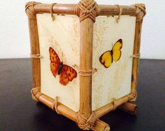 Butterfly Bamboo Night Lamp Decor