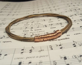 Acoustic Guitar String Bracelet Without Ball Ends