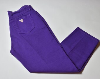 Vintage Rare Purple Guess High Waisted Jeans