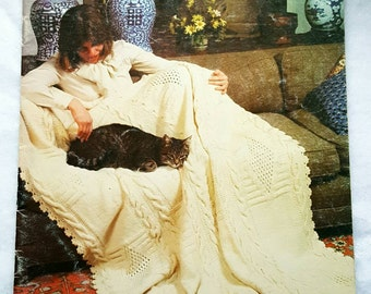 1978 Bernat Afghan Album Pattern Book ReTrO GrOOvy!