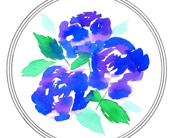 Purple Rose Bouquet - 8 x 10 Print