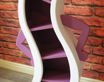 Bendy / Curvy Character Bookcase Shelving Fairytale Disney Inspired