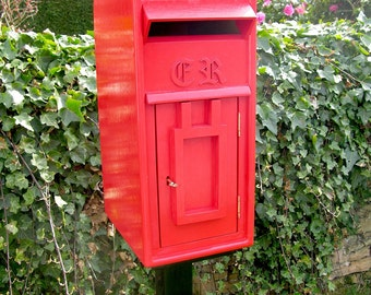 Replica Royal Mail Red Letter / Post Box / Wedding Box on Post / Stand