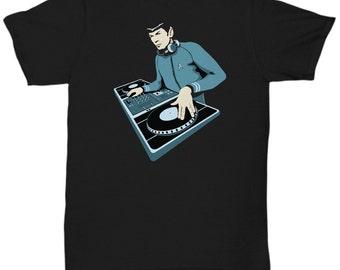 Spock Star Trek  DJ  t-shirt T Shirt Tee