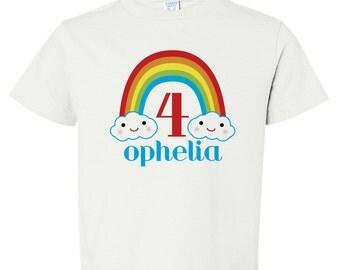 Girls Birthday Transfer, Rainbow Birthday Iron On, Birthday Shirt Iron On, Rainbow Shirt, Girls Rainbow Shirt, Rainbow Iron On Transfer