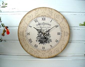 Wall Clock Shabby 12 inch Home Decor Wall Clocks Shabby chic clock living room clock