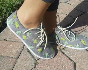 Custom Painted/Design Cactus Shoes