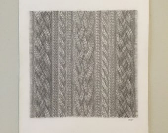 Cable Knit Drawing