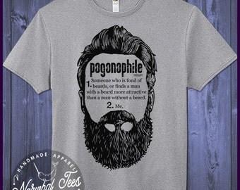 Funny Beard Shirt For Her Pogonophile T-Shirt Love Beards Tee