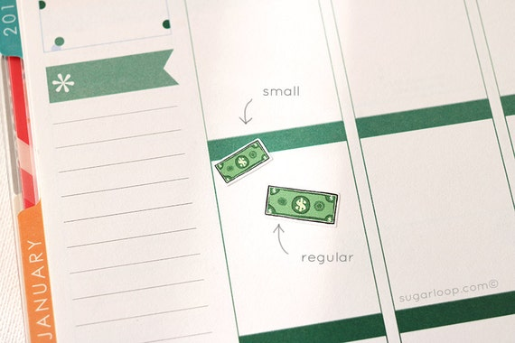 30, payday, planner stickers, payday planner stickers, money, dollar bill, dollar note, income, work,  PAY1