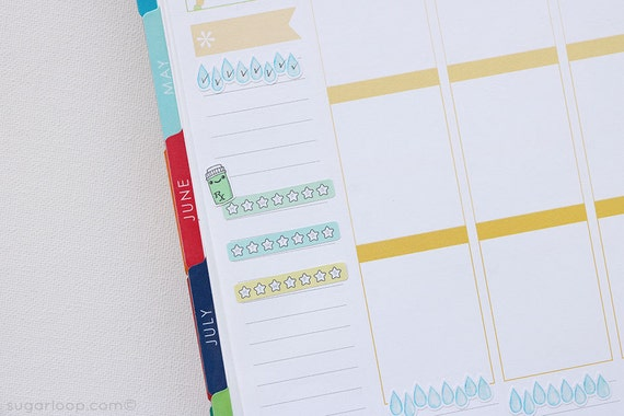 24 x Pastel, Weekly habit tracker planner stickers, rainbow, checklist, to do, task, routine, life planner stickers, bullet journal, WHT7