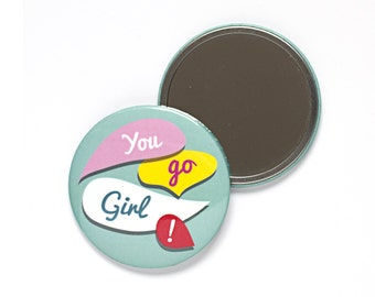 You Go Girl Pocket Mirror