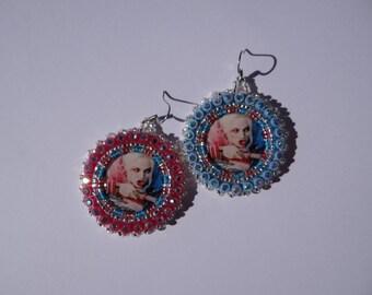 Harley Quinn Beaded Earrings