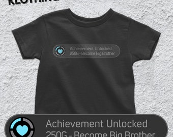 Achievement unlocked: Become a Big Brother T-shirt - Big Brother Baby Bodysuit - Cute Pregnancy Announcement - Xbox Inspired - AR-111