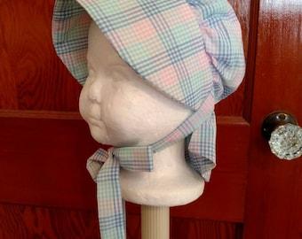 Baby Girls Bonnet, Sun Hat, Size 6 to 12 Months