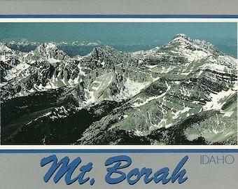 Vintage 1990s Postcard Mount Borah Idaho Mountain Peak Nature Scenic View Geology Photochrome Era Postally Unused
