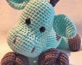 Mint green  pillow pet giraffe stuffed animal