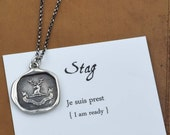 Stag - Wax Seal Crest Necklace - I Am Ready - 200
