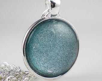 Glittery Aqua Nail Polish Necklace ORLY Aqua 3D Nail Polish Jewelry