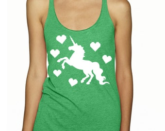 Womens Unicorns Shirt Tank Top Unicorns ugly Christmas Shirts Cute Clothing Pegasus Exercise Tops Active shirts for gym lovers