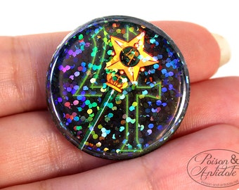 Holographic Sailor Jupiter in Space Pin - 1.25 pinback button