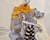 Bookmark - Laminated - Charm - Fairy - Fantasy - Primroses Fairy - SMALL