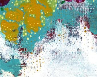 Abstract Art , Flower Art Print, Contemporary Art, Abstract Flower Painting, Flower Wall Art , Canvas Print , Whimsical Flower Painting