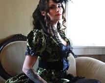 La Fee Verte - Absinthe Gothic Steampunk Masquerade Ball Gown