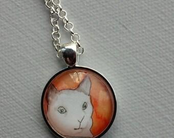 Unique Pendant, Cat Jewelry - Cat Face