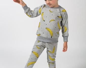 BANANA print kids sweatshirt 12-18m, 2T, 3T, 4T