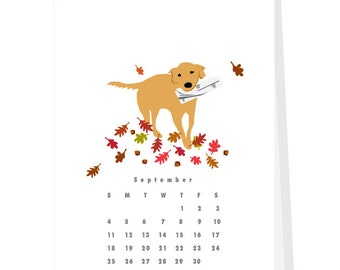 April 2016- March 2017  Wall Calendar Good Dogs Dog Tricks