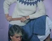 Sweater Knitting Patterns Nordic Knits Patons Beehive 440 Men Women Children Vintage Paper Original NOT a PDF