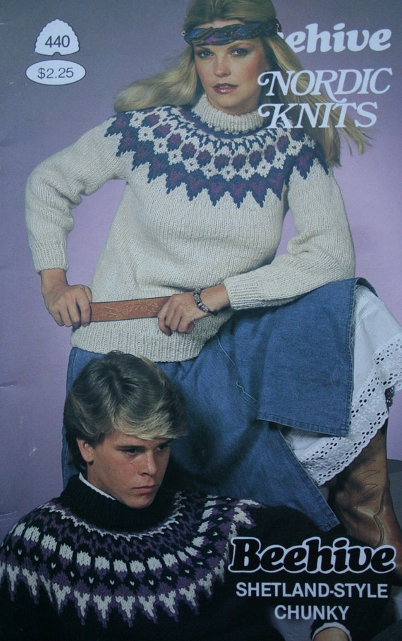 Sweater Knitting Patterns Nordic Knits Patons Beehive 440 Men Women
