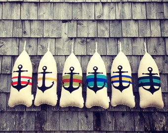 Maine Lobster Buoy Pillow.Anchor pillow.Anchor pillows.gifts under 45. gifts for him.maine anchor pillow. Buoy anchor pillow.