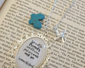 Friendship Necklace, Best Friend Necklace, Winnie The Pooh Necklace, Winnie the Pooh, Quote Necklace, Charm Necklace, Winnie the Pooh Quote