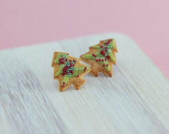 Christmas Tree Cookie Studs / Post Earrings - Christmas Specials